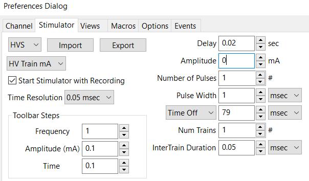 applications - h-reflex-stim-setup